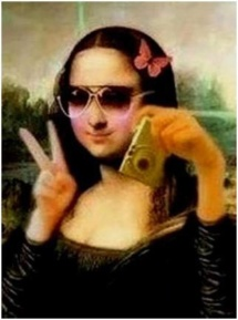 mona lisa, by mona lisa, not leonardo da vinci