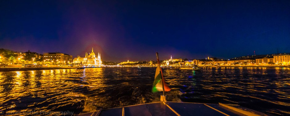 Night view of the Danube