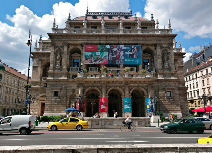 Exterior view of the Budapest Opera House