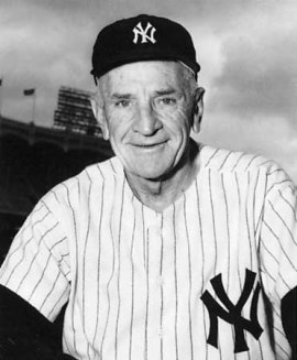 Photo of Casey Stengel in Yankees uniform