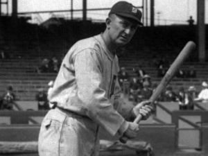 Picture of Ty Cobb at bat.